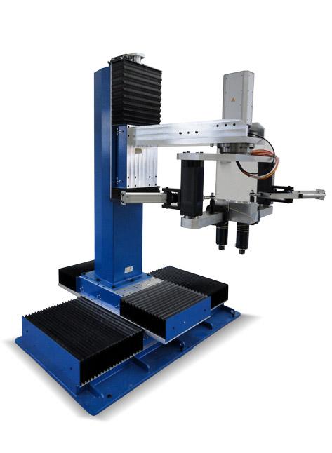 Mesa giratoria indexada con unidad de pulido CNCL para tarjas y fregaderos