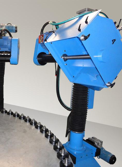 TRC + CPL Tavola rotante in continuo con unità di pulitura CPL