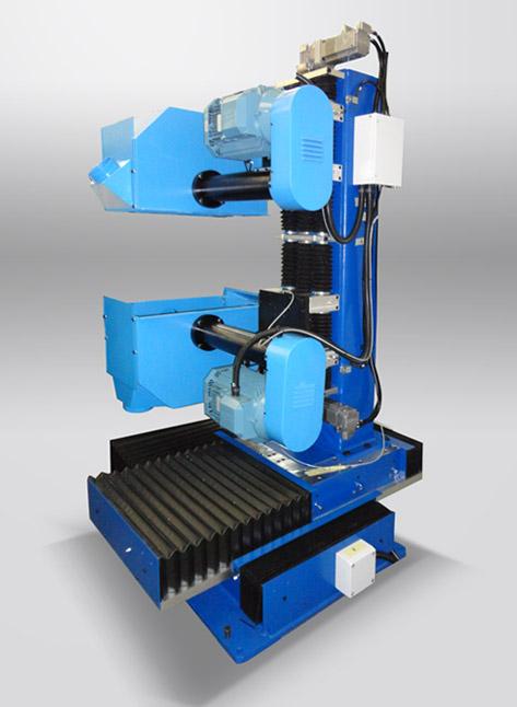 TR+CPDO Tavola rotante a scatti con unità di pulitura CPDO