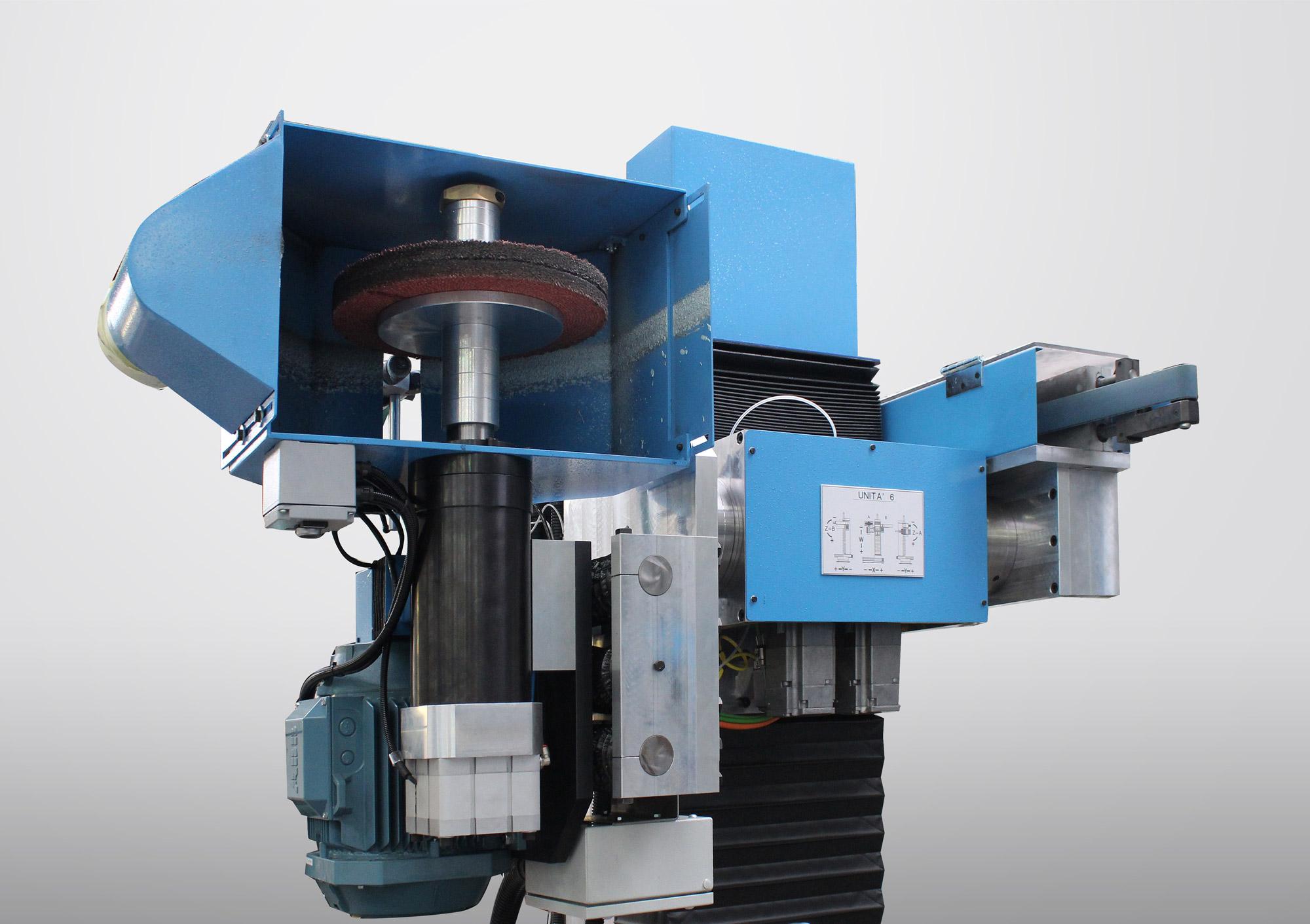 TR+CNC +CNCS Tavola rotante con unità di pulitura CNC e di smerigliatura CNCS